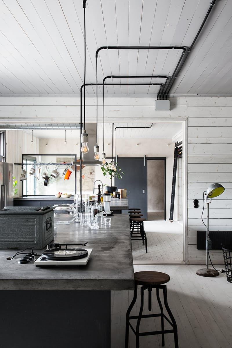 Использование бетона в интерьере кухни - фото 3