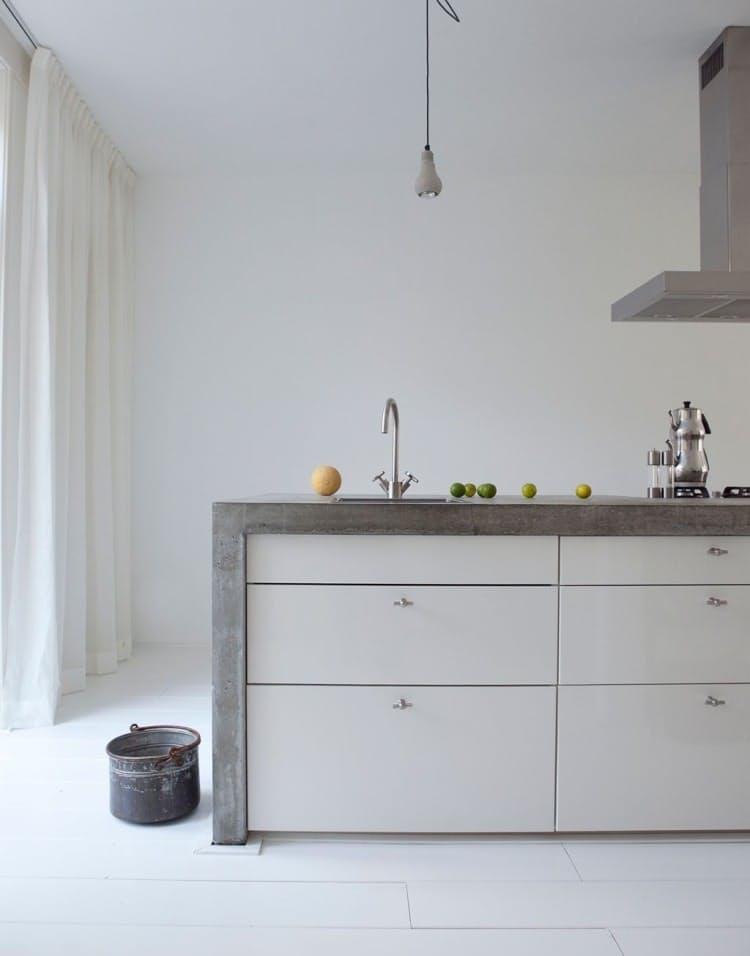 Использование бетона в интерьере кухни - фото 4