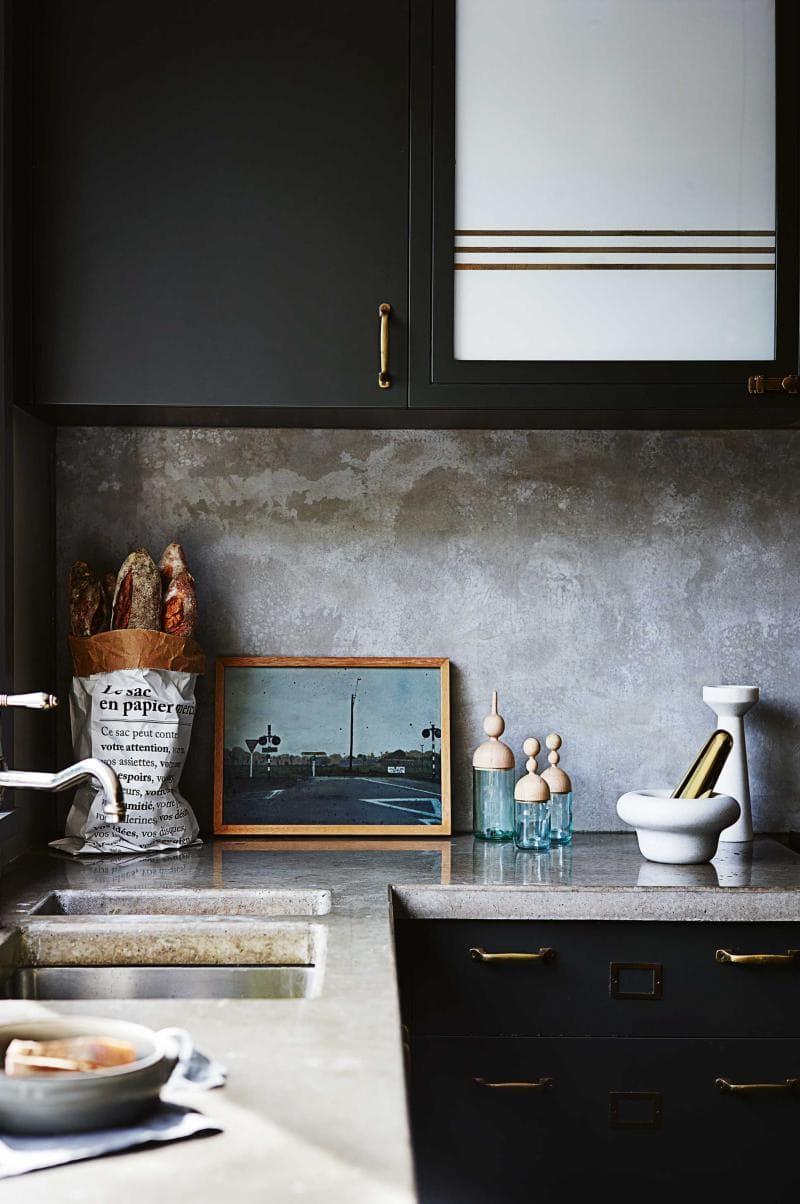 Использование бетона в интерьере кухни - фото 5
