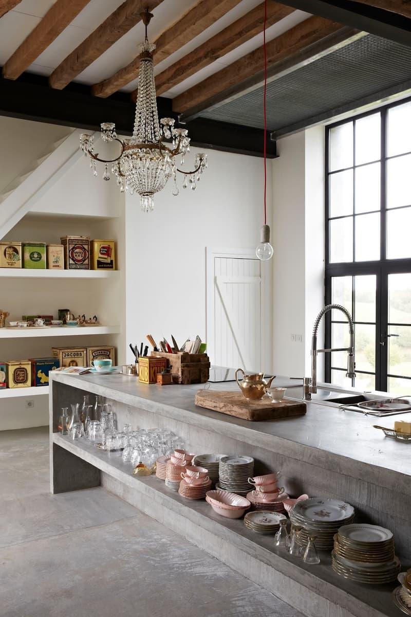Использование бетона в интерьере кухни - фото 6