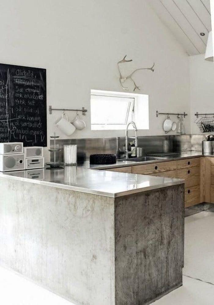 Использование бетона в интерьере кухни - фото 7