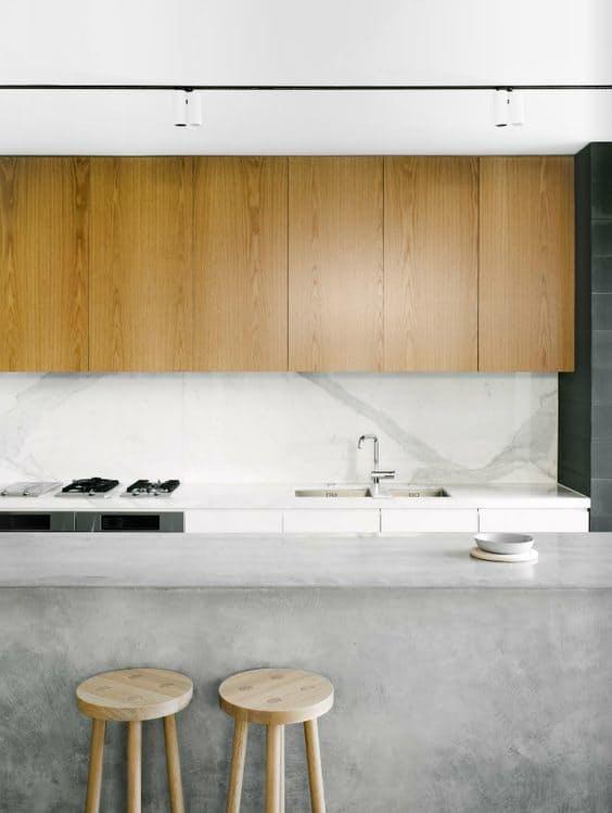 Использование бетона в интерьере кухни - фото 8