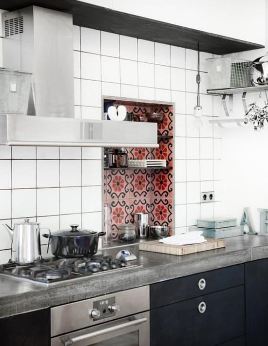 Использование бетона в интерьере кухни - фото 9
