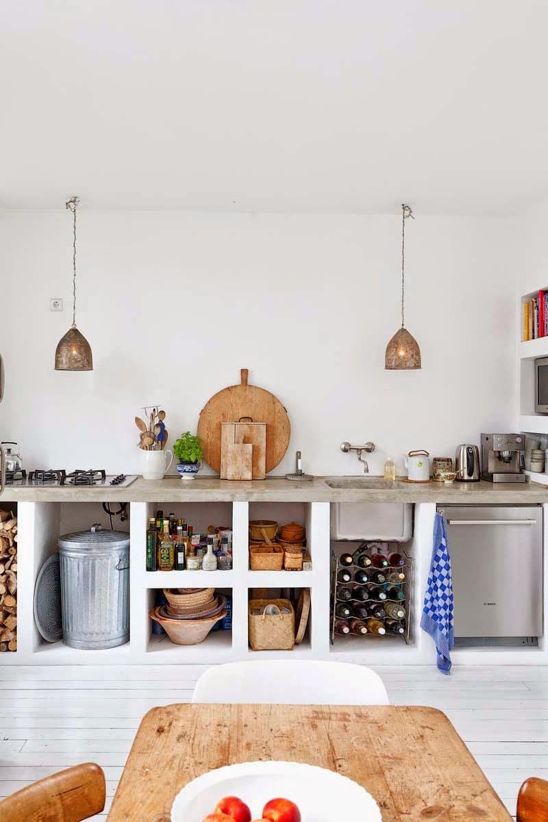 Использование бетона в интерьере кухни - фото 10
