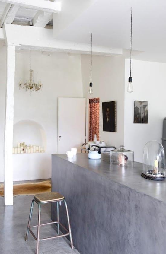 Использование бетона в интерьере кухни - фото 12