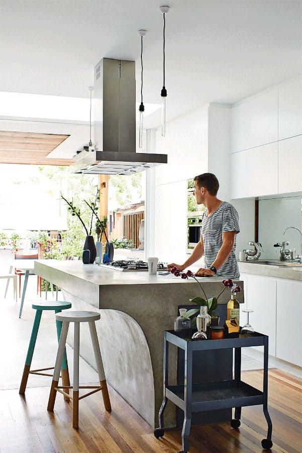 Использование бетона в интерьере кухни - фото 15