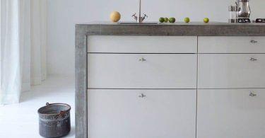 Использование бетона в интерьере кухни
