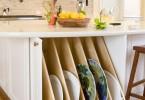 Система для хранения тарелок в кухонном гарнитуре