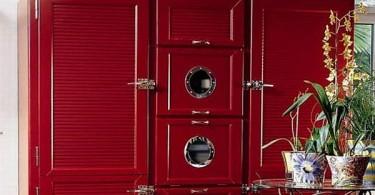 Холодильник Meneghini в стиле ретро