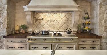 Роскошный дизайн кухонного фартука