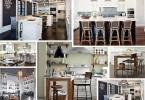 Фотоколлаж: уникальный дизайн интерьера кухни в стиле бистро
