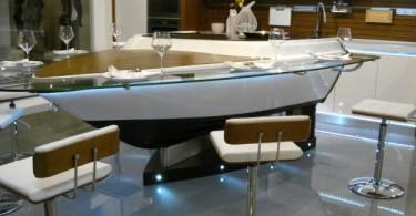 Кухонный остров в форме лодки