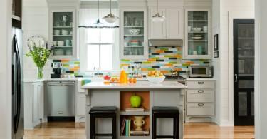 Дизайн интерьера проходной кухни