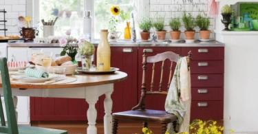 Вариант современного кантри для загородного дома
