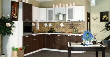 Красивая отделка кухонного гарнитура