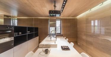 Интерьер кухни с кинопроектором