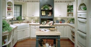Консервативный дизайн кухонного интерьера от Central Kitchen & Bath