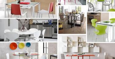 Фотоколлаж: современные кухонные стулья