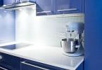Кухонный гарнитур цвета синий кобальт
