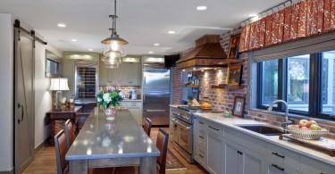 Бесподобный дизайн интерьера кухни от от K & K Custom Cabinets