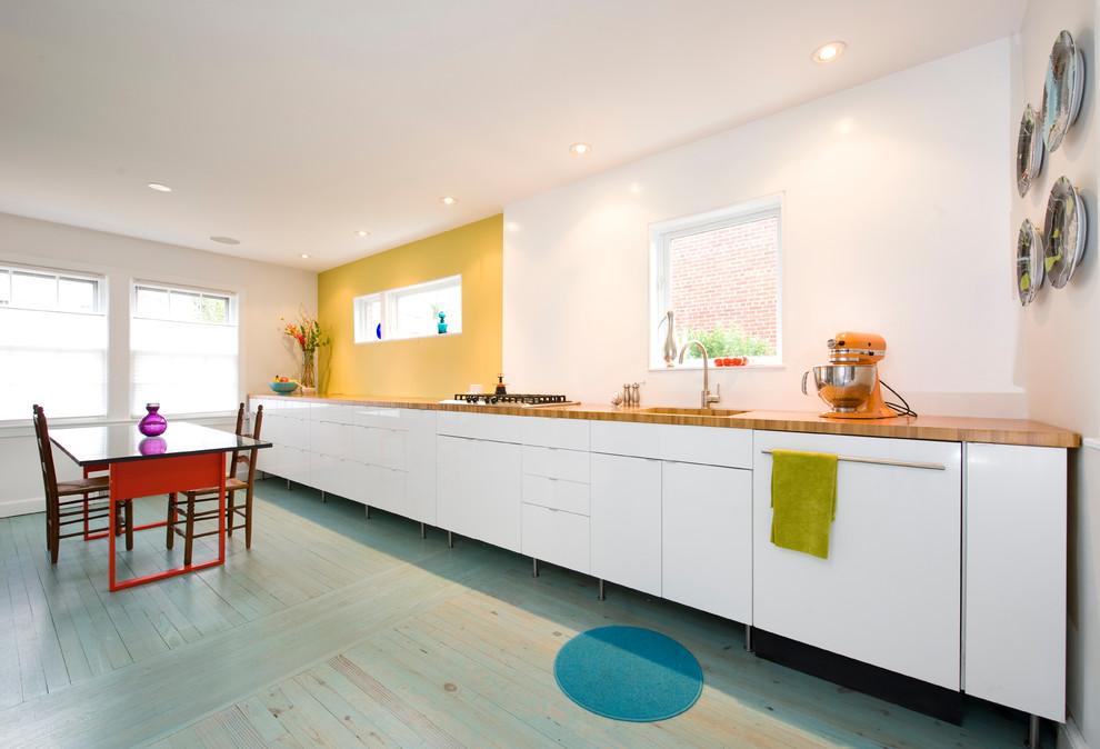 Интерьеры кухонь в зеленом цвете 59