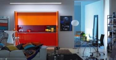 Стильный дизайн интерьера просторной кухни от Logoscoop