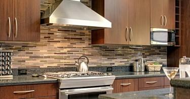 Стильный фартук в интерьере кухни