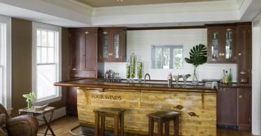 Креативный деревянный кухонный остров