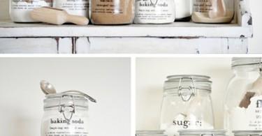 Кухонные аксессуары: стеклянная тара для хранения сыпучих продуктов