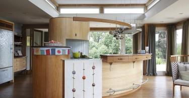 Оригинальный дизайн деревянной кухни ручной работы