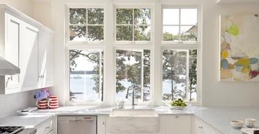 Мансардные окна в кухне