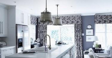 Кухня-гостиная в стиле бистро