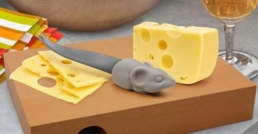 Нож для сыра с ручкой в форме мышки