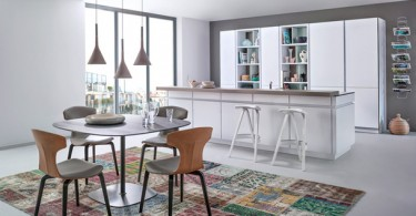 Стильный дизайн кухни фабрики Leicht