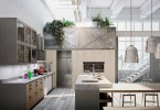 Эклектичный дизайн кухонного гарнитура от Snaidero