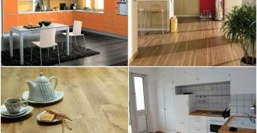 Фотоколлаж: ламинат в интерьере кухни