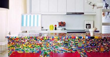 кухня из конструктора Lego от Simon Pillard и Philippe Rosetti