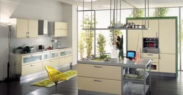 Современный интерьер стильной кухни
