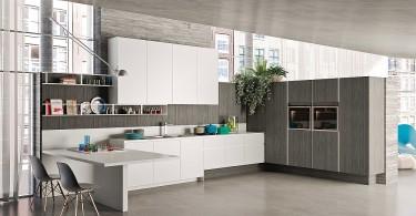 Шикарная кухонная композиция в стиле минимализм