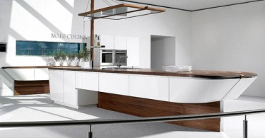 Необычный интерьер кухни а-ля Сиднейская бухта