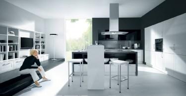 Металл в дизайне респектабельной кухни
