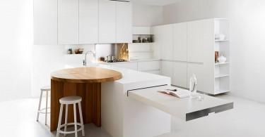 Дизайн кухни в стиле минимализм от студии Slim Kitchen