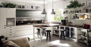 Дизайн интерьера кухни в белой гамме