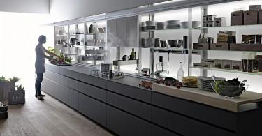 Инновационная кухонная система система Logica от Valcucine