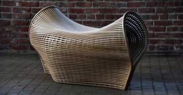 Гнутый стул из белого дуба