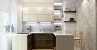 Стильный дизайн интерьера современной кухни