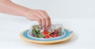 Прозрачная пластиковая крышка для сохранения свежести продуктов