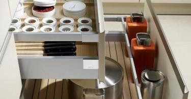 Выдвижные ящикик в кухонном гарнитуре