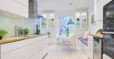 Светлый колорит кухни в скандинавском стиле