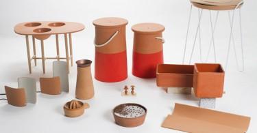 Разнообразные керамические изделия из терракота для кухонного интерьера